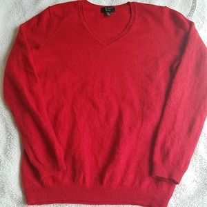 Charter Club Luxury 100% Cashmire Red Sweater